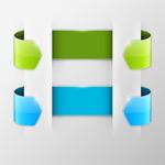 Link toExquisite roll paper banner vector