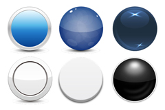 Link toExquisite round buttons design vector