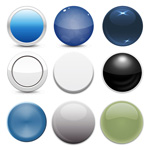 Link toExquisite round buttons vector