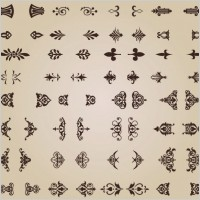 Link toExquisite shading pattern 02 vector