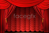 Link toExquisite stage curtain background pictures