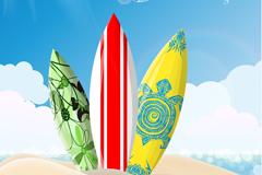 Link toExquisite surfboards background vector