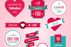 Link toExquisite valentine tags design vector
