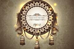 Link toExquisite vintage ornaments vector background