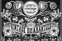 Link toExquisite vintage patterns tag vector