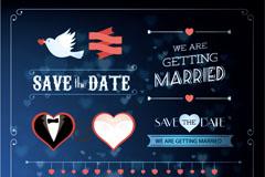 Link toExquisite wedding label pattern vector