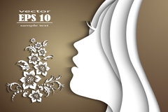 Link toExquisite women's side face cutting background vector