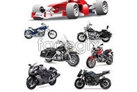 Link toF1 formula racing cars and motorcycles vector