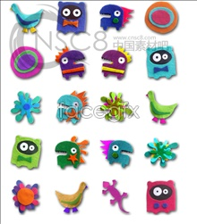 Link toFabric art cartoon characters icon