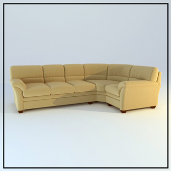 Link toFabric corner sofa 3d model