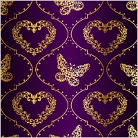 Link toFabric pattern vector ornate background 5