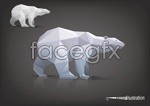 Facade of the polar bear vector
