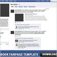 Link toFacebook fanpage free psd template