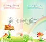 Link toFairy spring scenery vector