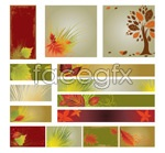 Link toFall banner background vector