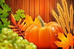 Link toFall harvest crops background vector
