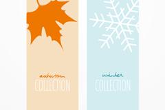 Link toFall/winter simplicity design banner vector