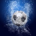 Link toFalling water football psd