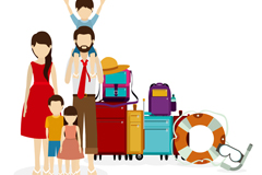 Family travel five vector