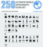 Link toFamous architectural icons vector
