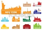 Link toFamous architectural silhouettes 2 vector