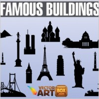 Link toFamous buildings silhouettes