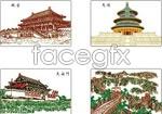 Link toFamous buildings vector