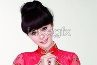 Link toFan bingbing wear red cheongsam new year high definition pictures