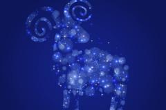 Link toFantasy blue glow sheep design vector