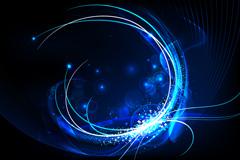 Fantasy blue light effect background vector