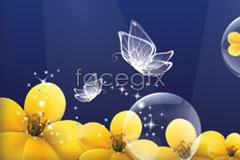 Link tovector backgrounds flowers butterfly Fantasy