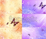 Link toFantasy butterfly pattern background vector