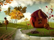 Link toFantasy cartoon landscape picture download