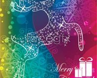 Link toFantasy christmas background vector graphics design