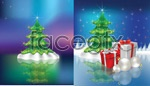 Link toFantasy christmas background vector