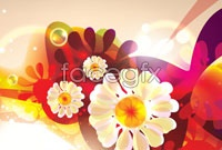 Link toFantasy flower background vector ii