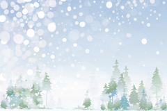 Link toFantasy forest snow vector