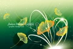 Link toFantasy ginkgo leaf vector