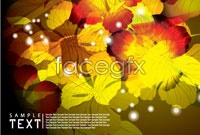 Link toFantasy leaf background vector 2