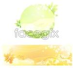 Link toFantasy leaf theme vector