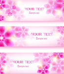 Fantasy pink flower vector