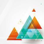 Link toFantasy triangular background vector