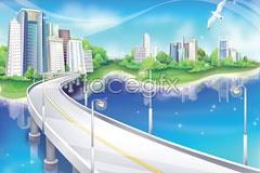 Link toFantasy vector map for city construction