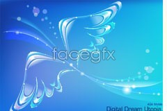 Link toFantasy wing background vector