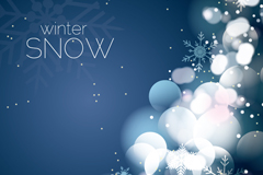 Link toFantasy winter snowflake background vector