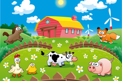 Link toFarm cartoon vector illustration