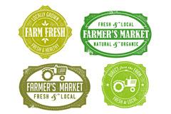 Link toFarm food labels vector