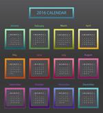 Fashion 2016 calendar vector