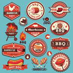 Fashion barbecue labels vector