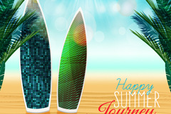 Link toFashion beach surfboard vector